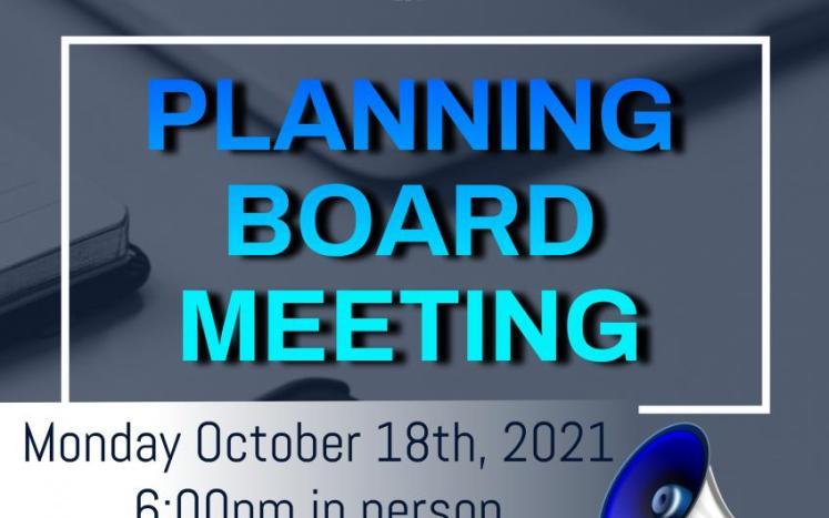 PLANNING BOARD MEETING
